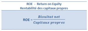 ROE - Return on Equity - Rentabilité des capitaux propres